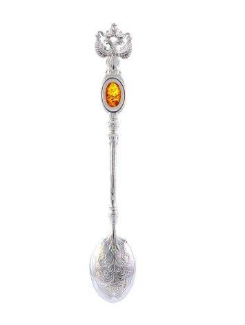 Sterling Silver Spoon With Cognac Amber, image , picture 3