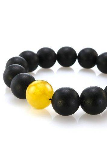 Black Amber Bead Bracelet The Cuba, image , picture 2