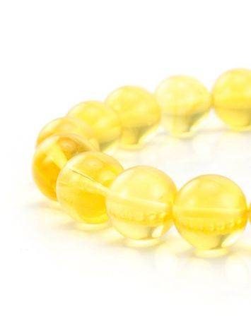 Bright Lemon Amber Beaded Bracelet, image , picture 3