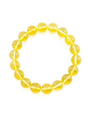 Bright Lemon Amber Beaded Bracelet, image , picture 4