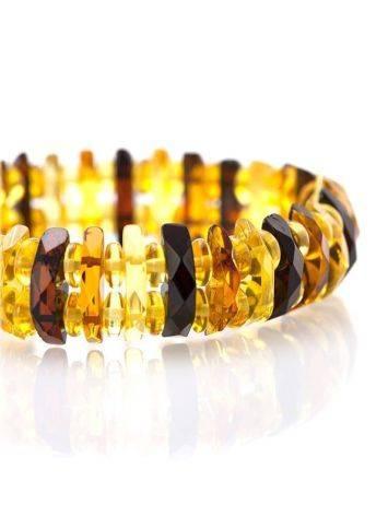 Faceted Multicolor Amber Designer Bracelet The Tangerine, image , picture 3