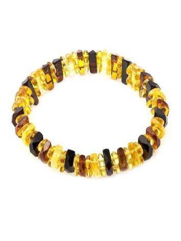 Faceted Multicolor Amber Designer Bracelet The Tangerine, image , picture 5