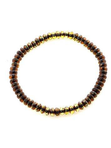 Two Toned Amber Elastic Bracelet The Prague, image , picture 4