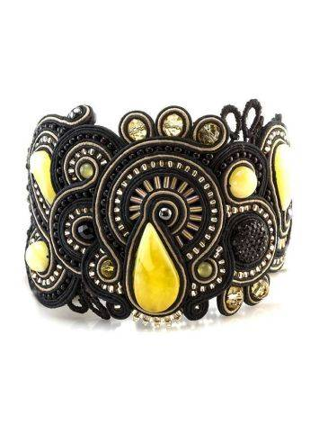 Braided Cuff Bracelet With Amber And Crystals The India, image , picture 2