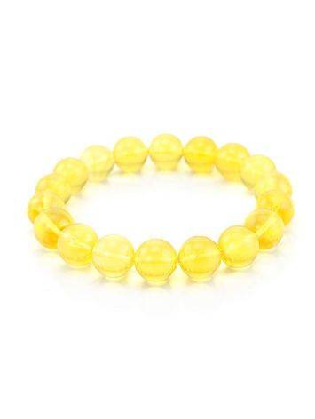 Bright Lemon Amber Beaded Bracelet, image