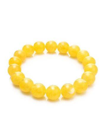 Honey Amber Ball Beaded Bracelet, image