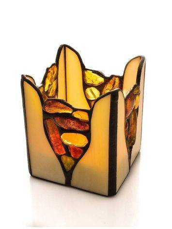 Multicolor Amber And Glass Candleholder, image , picture 4