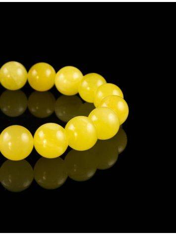Honey Amber Ball Beaded Bracelet, image , picture 2