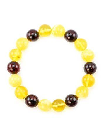 Multicolor Amber Beaded Stretch Bracelet, image , picture 3