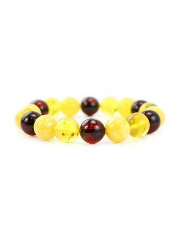 Multicolor Amber Beaded Stretch Bracelet, image , picture 4