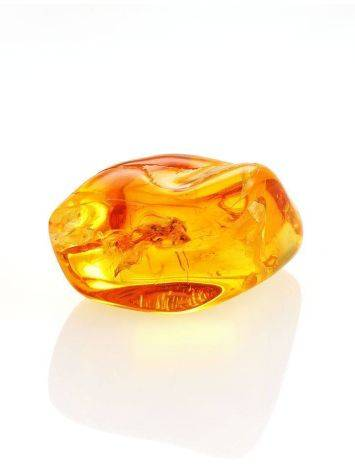 Glossy Amber Stone With Spider Inclusion, image , picture 4