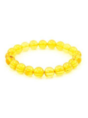 Lemon Amber Ball Beaded Bracelet, image