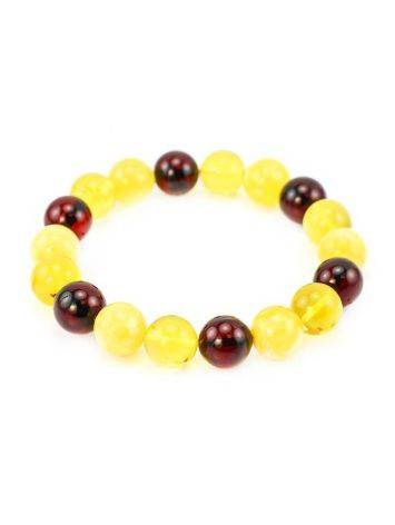 Multicolor Amber Beaded Stretch Bracelet, image