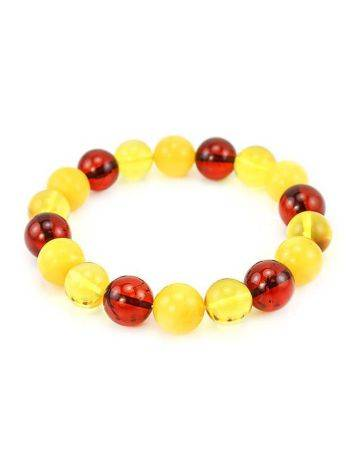 Amber Ball Beaded Stretch Bracelet, image