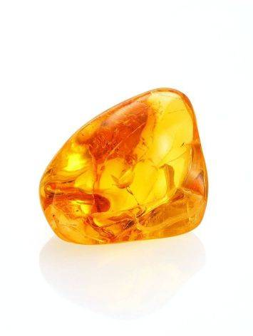 Glossy Amber Stone With Spider Inclusion, image