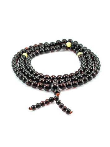 Cherry Amber Buddhist Prayer Beads, image