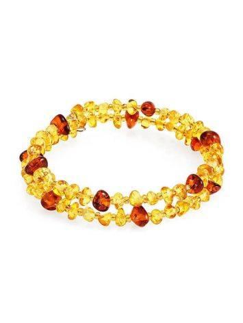Two Toned Amber Bangle Bracelet, image