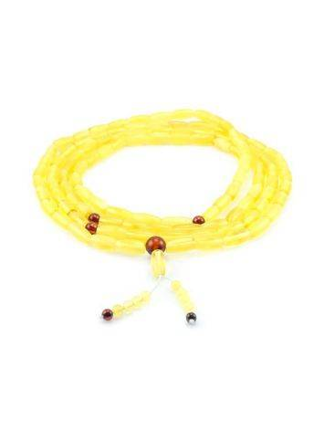Honey Amber Buddhist Prayer Beads, image