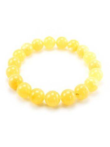 Honey Amber Ball Beaded Stretch Bracelet, image