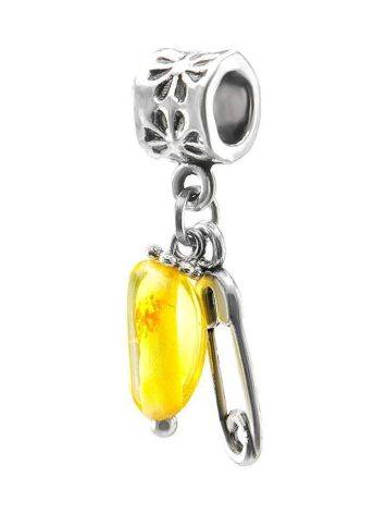 Metal Charm With Lemon Amber The Pin, image , picture 2