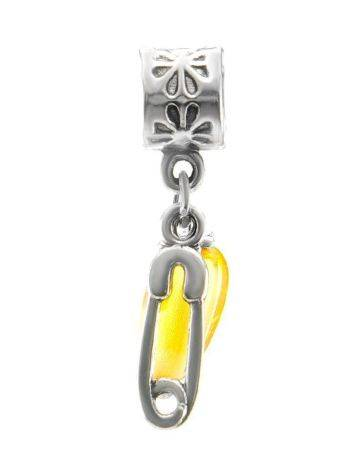 Metal Charm With Lemon Amber The Pin, image