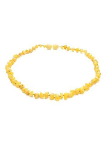 Honey Amber Teething Beaded Necklace, image