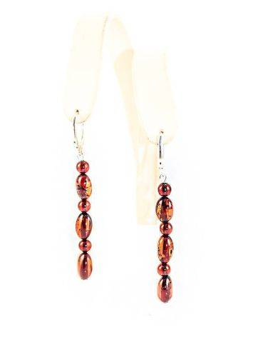 High Polished Cherry Amber Dangles In Sterling Silver The Bohemia, image , picture 4