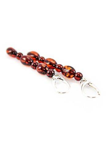 High Polished Cherry Amber Dangles In Sterling Silver The Bohemia, image , picture 2