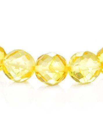 Faceted Lemon Amber Ball Beaded Bracelet The Prague, image , picture 3