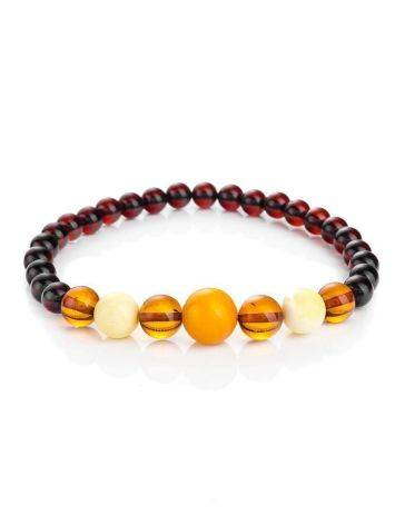Multicolor Amber Ball Beaded Bracelet, image