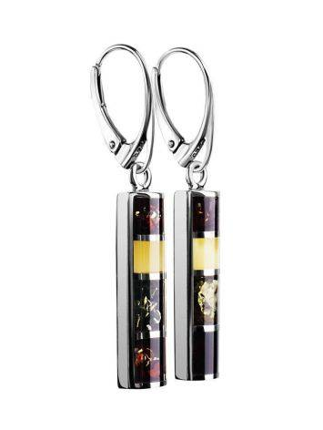 Drop Amber Earrings In Sterling Silver The London, image , picture 3