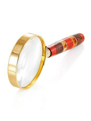 Handmade Amber Magnifying Glass With Wood The Indonesia, image , picture 3
