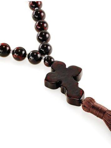 Orthodox 33 Cherry Amber Prayer Beads, image , picture 3