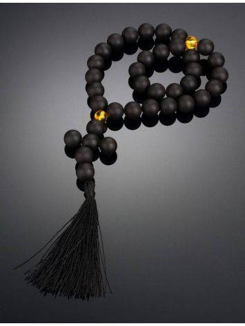 Orthodox 33 Black Amber Prayer Beads The Cuba, image , picture 2