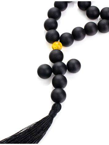 Orthodox 33 Black Amber Prayer Beads The Cuba, image , picture 3
