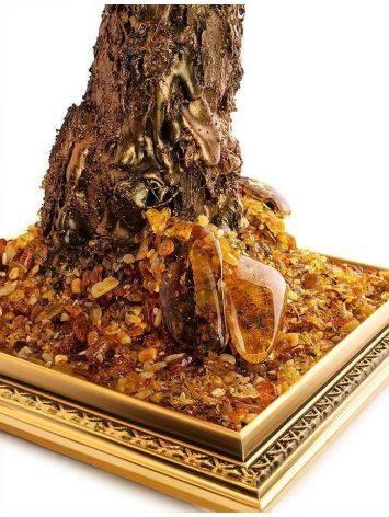 Cognac Amber Decorative Feng Shui Money Tree, image , picture 3