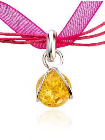Lemon Amber Choker In Sterling Silver The Flamenco, image , picture 4