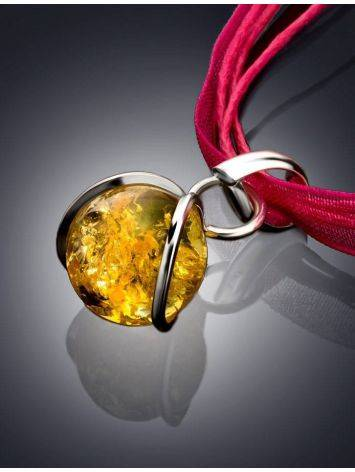 Lemon Amber Choker In Sterling Silver The Flamenco, image , picture 2