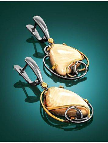 Bold Mammoth Tusk Earrings In Gold-Plated Silver The Era, image , picture 2