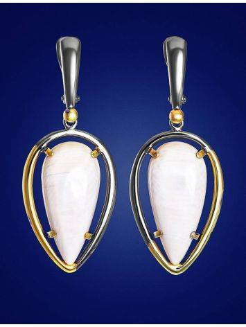 Drop Gold-Plated Earrings With Natural Mammoth Tusk The Era, image , picture 3