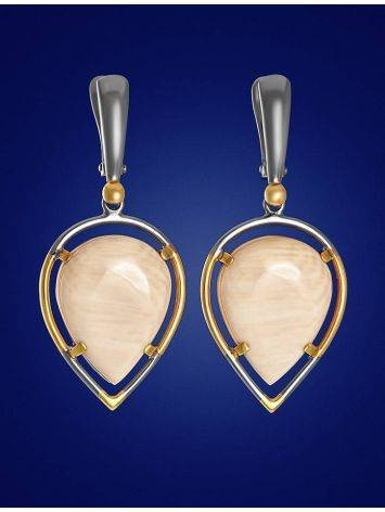 Drop Cut Mammoth Tusk Earrings In Gold-Plated Silver The Era, image , picture 2