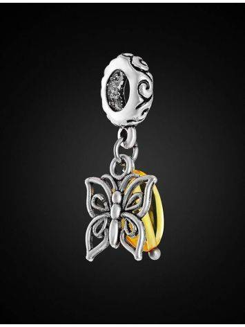 Filigree Charm With Lemon Amber The Butterfly, image , picture 3