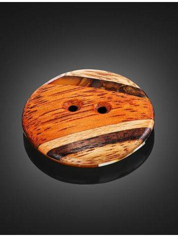 Decorative Amber Button With Wood The Indonesia, image , picture 2