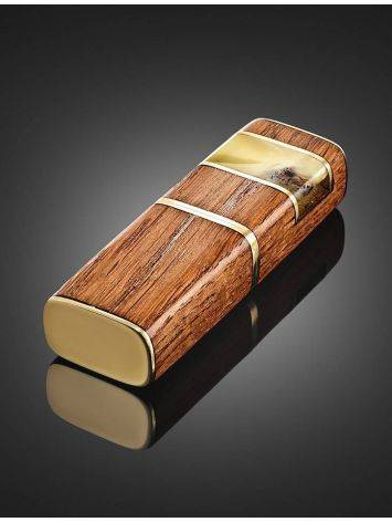 16 Gb Handcrafted Amber Flash Drive With Wood The Indonesia, image , picture 2
