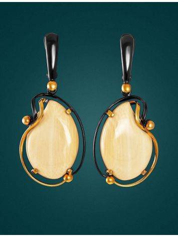 Mammoth Tusk Earrings In Gold-Plated Silver The Era, image , picture 3