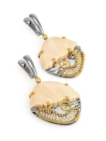 Voluptuous Mammoth Tusk Earrings In Gold-Plated Silver The Era, image , picture 3