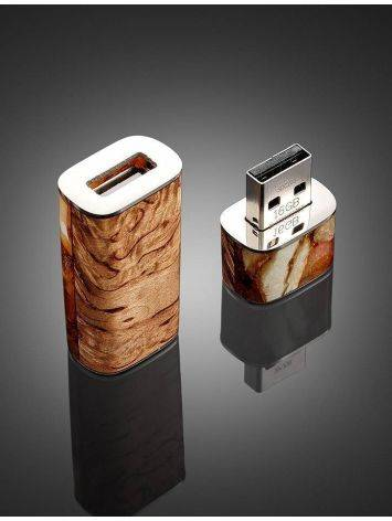 16 Gb Flash Drive With Karelian Birch And Baltic Amber The Indonesia, image , picture 2