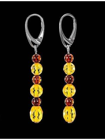 Multicolor Amber Dangle Earrings In Sterling Silver The Bohemia, image , picture 2