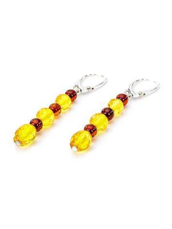 Multicolor Amber Dangle Earrings In Sterling Silver The Bohemia, image , picture 3