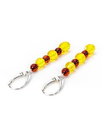Multicolor Amber Dangle Earrings In Sterling Silver The Bohemia, image , picture 4